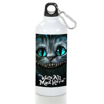 Gift Sport Bottles | Cheshire Cat Were All Mad Here Aluminum Sport Bottles