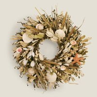 Seashell and Herb Wreath