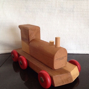 Vintage Locomotive California Redwood Souvenir