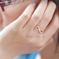 Perfect Infinite With Diamond - Engagement Gift - Infinity Ring