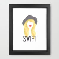 Taylor Swift Framed Art Print by Jessica Pulido