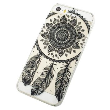 Black Transparent Dream Catcher Pattern Hard Case Cover For iPhone 5C