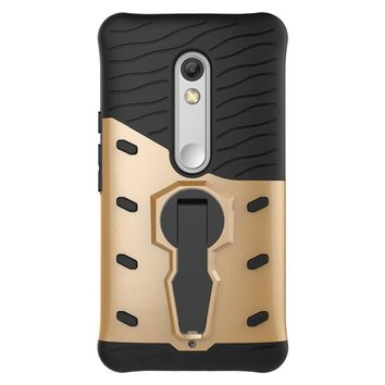 For Motorola Moto X Play Phone Case Silicone TPU+Hard PC 360 Rotating Kickstand Dual Armor Back Cover Mobile Phone Shell