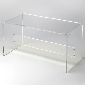 Crystal Clear Modern Rectangular Bench Clear