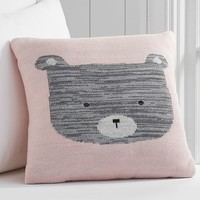 Knitted Bear Decorative Pillow