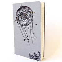 Bridges and Balloons Large Moleskine Notebook  Grey by shoofly