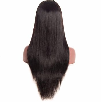 6x12 Brazilian Straight Lace Front Human Hair Wigs For Black Women ALIPOP Lace Front Wig With Baby Hair 150% Density NonRemy