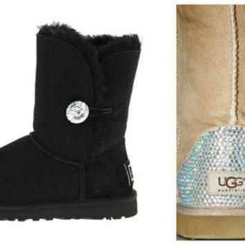 ICIK8X2 Swarovski Crystal Embellished Bailey Bling Uggs - Winter / Holiday Bling UGGs 2013
