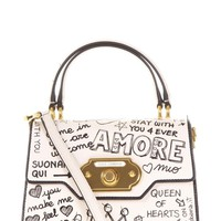Best price on the market: Dolce & Gabbana Dolce & Gabbana Welcome Graffiti Printed Leather Bag