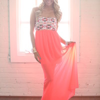 Hot Pink Sizzle Maxi Dress