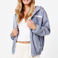 John Galt Hooded Windbreaker Jacket at PacSun.com