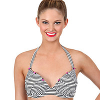 STRIPE SENSATION HALTER TOP