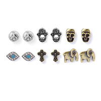 Peace and Spirit Stud Earrings Set of 6