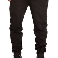 The Stretch Twill Jogger Pants in Black