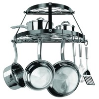Double Shelf Wall Hanging Pot Rack