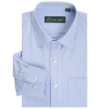 Men's Shirts Classic Striped Men Dress Shirts Long Sleeve Plus Size Business Formal Shirts Male Casual Shirts camisa masculina camisas hombre