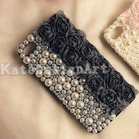 pearl lace iphone case - unique iphone 4 cases, rose iphone 5 case, iphone covers iphone 4s case