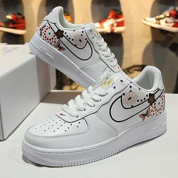 2018 Nike Air Force 1 AF1 Low CNY White Blue Tint AO9381 100 Sport Shoes - Sale