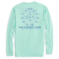 Points of Sail Long Sleeve T-Shirt in Offshore Green by Southern Tide