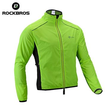 ROCKBROS Cycling Jacket Breathable Racing Wind Coat Long Sleeve Men Women Quick Dry MTB Road Bike Bicycle Jerseys Clothing