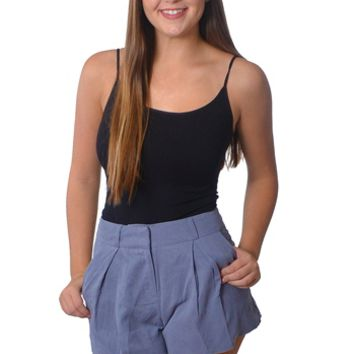 Grey High Waisted Shorts