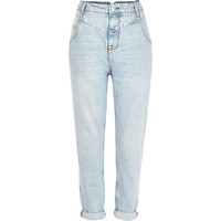 River Island Womens Light wash slim Mom jeans