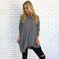 Snuggle Up Stripe Tunic Sweater