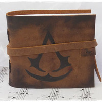 Brown Leather Journal Inspired By Assassin's Creed