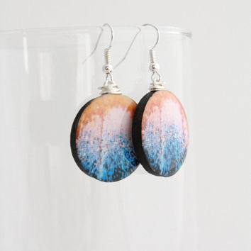 Rainbow Butterfly Wing Details Earrings - Iridescent by Nature