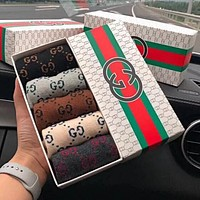 "Hot Sale ""GUCCI"" Fashionable Women Men Casual Sport Pure Cotton Socks - Boxed"