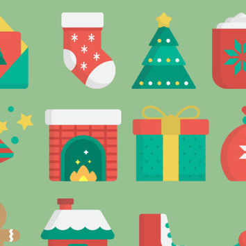 Christmas stickers agenda