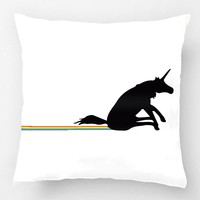 Unicorn Pooping Rainbows Pillow Case