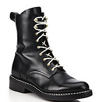 Rag & Bone - Emil Leather Combat Boots - Saks Fifth Avenue Mobile
