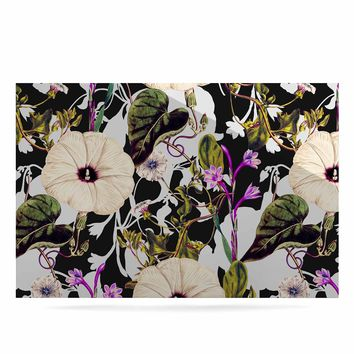 "mmartabc ""Abstract Blooming Botanic"" Purple Multicolor Floral Nature Illustration Watercolor Luxe Rectangle Panel"