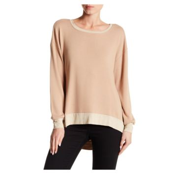 Go Couture – Women's Hi-Lo Long Sleeve Sweater