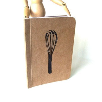 Kitchen Notebook with Whisk, Pocket Journal, Perfect Bound Moleskine, Mini Diary and Jotter, Recipe Book