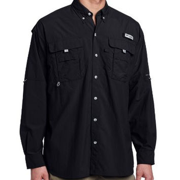 Columbia Men's Bahama II Long Sleeve Shirt (X-Large, Black)