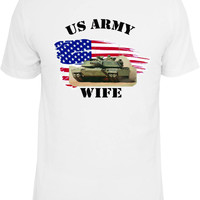 Proud Army Wife Shirt.  With American Flag and Abrams Tank.