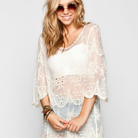 Blu Pepper Womens Lace Tunic Natural  In Sizes