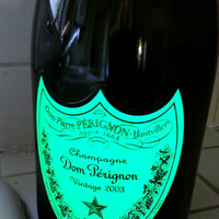 Dom Perignon Champagne Soap Dispenser THAT GLOWS- Made from Recycled Bottle