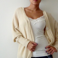 Long Sleeve Cardigan/ Plus size cardigan/ Knitted by onor on Etsy