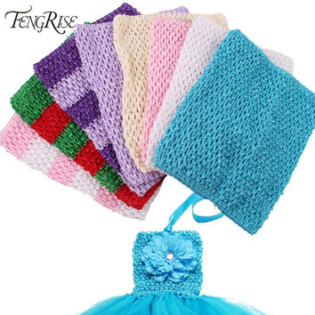 FENGRISE Fabric Sewing Accessories Baby Headband 20X23cm Tulle Spool Tutu Crochet Chest Wrap Tube Apparel Supplies Girl Skirt