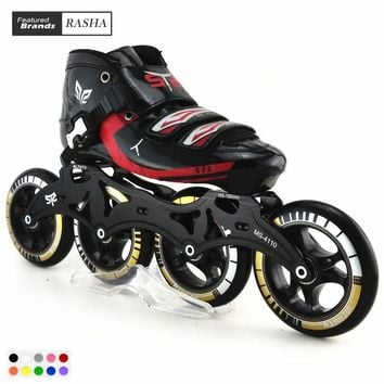 Speedskates STS  Roller Skating handmade inline speed skat skating shoes roller skates patins de 4 rodas High quality 8 color