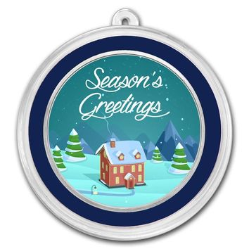 1 oz Silver Round - Seasons Greetings (Cozy House)