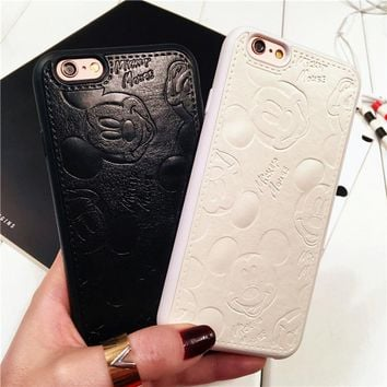 Leather Mickey Mouse Case