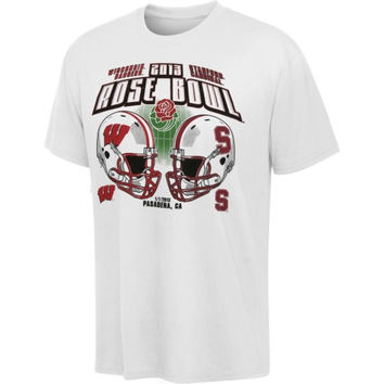 Stanford Cardinal vs. Wisconsin Badgers 2013 Rose Bowl Match-Up T-Shirt - http://www.shareasale.com/m-pr.cfm?merchantID=7124&userID=1042934&productID=526912610 / Wisconsin Badgers