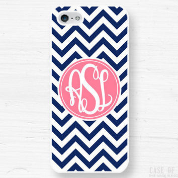 iPhone 5 4 Monogram Case  Personalized by CaseOfIdentity on Etsy