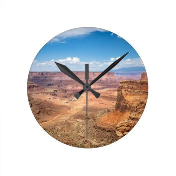 Canyonlands under Blue Sky Round Clock