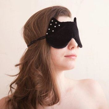 Cat Sleep Mask With The Stars