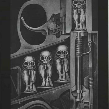 HR Giger Birth Machine Poster 24x36